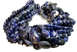 Sodalite Semiprecious Gemstone Beads - 11 Strand Set